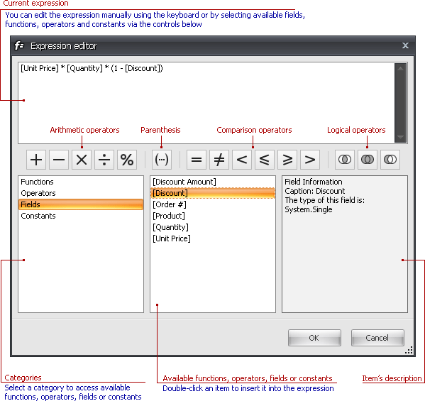 User Interface Reference > Expression Editor