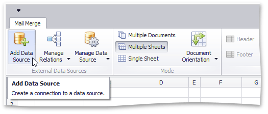 User Interface Reference > Spreadsheet > Mail Merge > Mail
